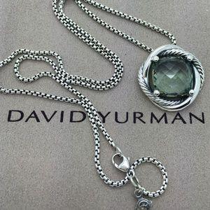 David Yurman Silver Prasiolite Infinity Pendant